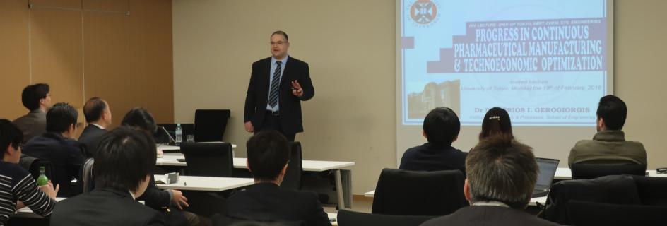 Dr Dimitrios Gerogiorgis at the University of Tokyo