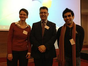 Helen Cope, Professor Hugh McCann and Siraj Sabihuddin