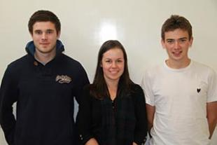 Ruaridh MacDonald, Camille French and David Macdonald