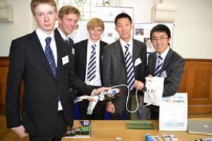 The team from Merchiston Castle School