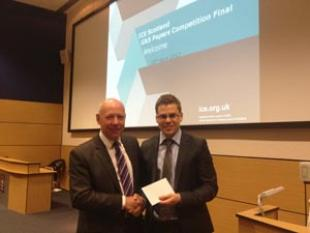 Ken Laing (past ICE Scotland Chairman) with David Connolly