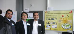 Ahmed El-Rayis, Prof Tughrul Arslan and Nakul Haridas co-founders of SOFANT Technologies