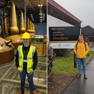 Jack Robinson on placement at Girvan Distillery