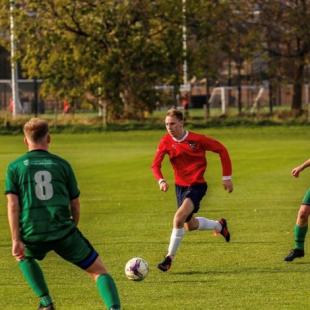Logan Sirel playing for Edinburgh University Association Football Club
