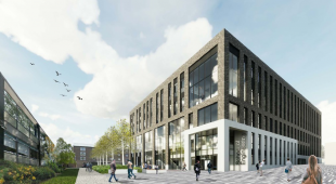 Architects image of new Engineering Quarter main building on King's Buildings campus