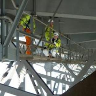 Civil Engineers under the Forth Road Bridge