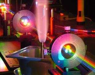 Coherent Anti-Stokes Raman Spectroscopy (CARS) in reactive gases (photo courtesy of Air Force Research Labs, Dayton, Ohio)