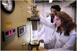 Postgraduate MSc students being taught advanced chemical engineering