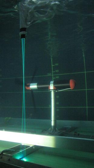 Experimental investigation of extreme loads on tidal turbines