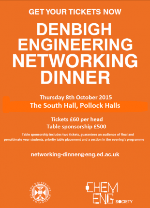 Denbigh Networking Dinner Flyer