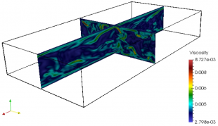 3D Graphic: turbulent flows