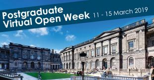 Postgraduate Virtual Open Week flyer
