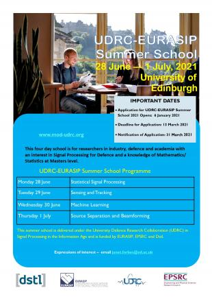 UDRC-EURASIP Summer School 2021 flyer