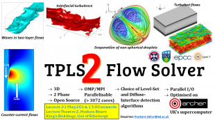TPLS Flow Solver is a highly parallelised two-phase flow solver