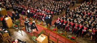Winter Graduation Ceremony in McEwan Hall, University of Edinburgh