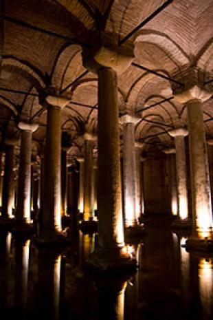 Basilica Cistern - Photo © Jim Crow 2014 reproduced by permission