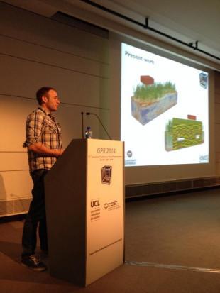 Iraklis Giannakis presenting his paper
