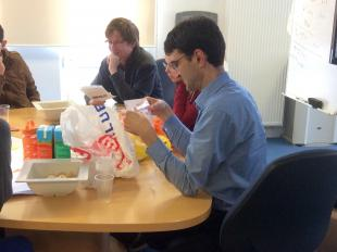 Dr Dimitir Mignard was amongst the staff helping students consider solutions to plastic waste in Scotland