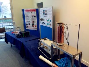 Agile Imaging Tomography stand, poster and equipment at the Edinburgh International Science Festival 2016
