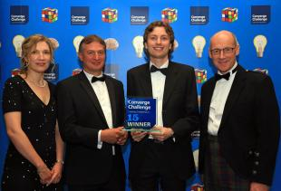 Dr Richard Walker of Photon Force collecting the 2015 Converge Challenge award