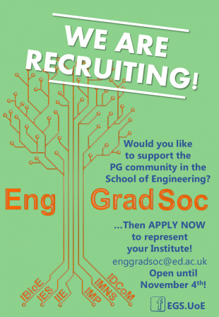 Eng Grad Soc recruitment poster