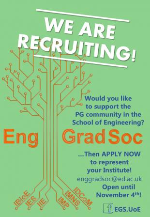 Eng Grad Soc recruitment poster