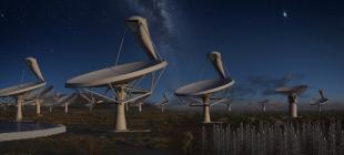 Artisit's impression of the Flagship Square Kilometer Array