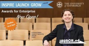 Inspire Launch Grow 2016 poster featuring Dr Richard Walker