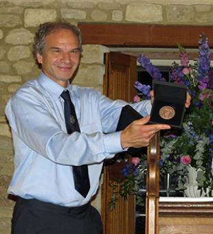 Professor Win Rampen receiving the Joseph Bramah Medal