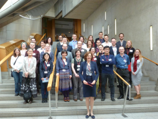 The 30 Scottish Cruciblists and the facilitator of the first lab Vivienne Parry