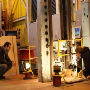 Students working on Structures, Materials and Composites in the Structures Laboratory