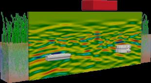 Simulated Ground Penetrating Radar response from antipersonnel landmines.