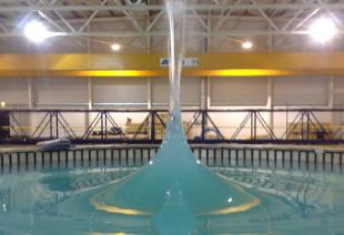 Concentrated wave generated in the combined current and wave test facility