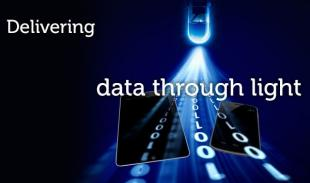 delivering data through light