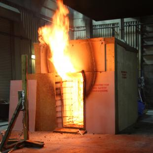 Timber compartment fire test