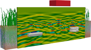 GPR Simulation graphic (ground penetration radar)