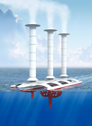 Unmanned multihull with Flettner rotors for the mitigation of global warming