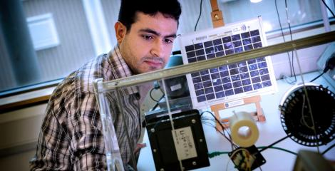 Engineering student in the Lifi Centre
