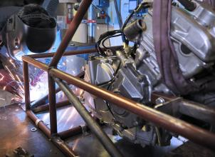 Fabrication of racecar frame