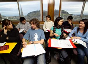 Engineering Students working together at Edinburgh