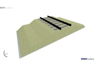 DEM simulation of experimental trackbed at Zhejiang University