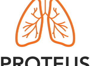 PROTEUS project logo featuring a pair of lungs